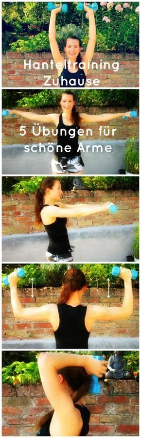 Your dumbbell training for the home! 5 exercises to get away the little winches …