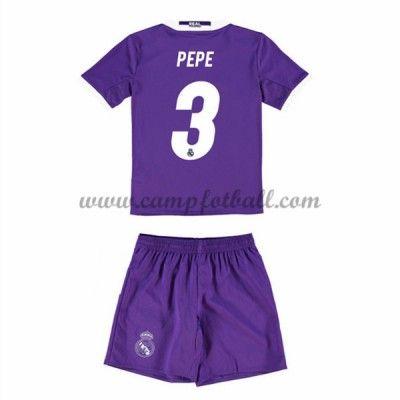 Fotballdrakter Barn Real Madrid 2016-17 Pepe 3 Borte Draktsett