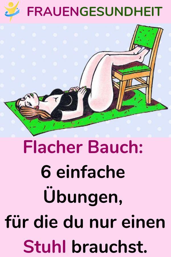 Flacher Bauch: 6 einfache Übungen, für die du nur einen Stuhl brauchst. #Übun… – Viola