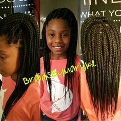 Kids box braids! #BraidsByMarijke                                                                                                                                                     More