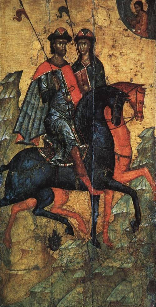 Ikon of SS. Boris and Gleb on Horseback (St. Boris) by Unknow Artist second half of 14th cent.