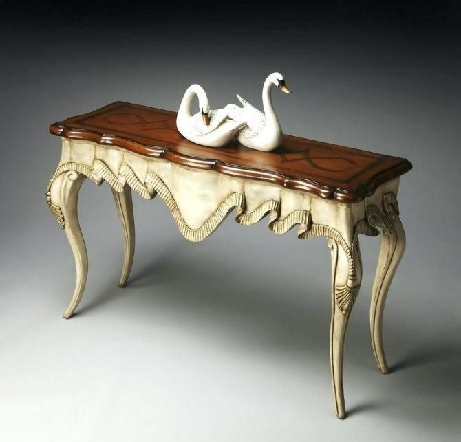 Image Result For Ethan Allen French Country End Table With Images Extra Long Console Table Console Table Wood Console Table