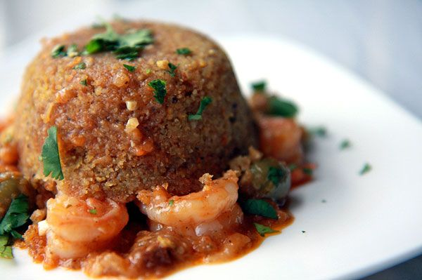 1Sweet eats or savory treats.  Mofongo is a Puerto Rican dish made from mashed plantains and stuffed with, in this case, shrimp. Can be stuffed with whatever you like!