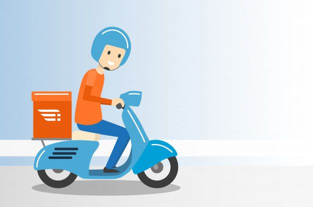 Delivery Boy Ride Scooter Motorcycle Service Vector Illustration In 2020 Vector Illustration Boy Illustration Scooter