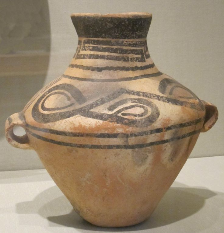 Chinese Jar Neolithic Period C 1000 Bce Painted
