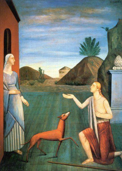 Carlo Carrà, Le figlie di Loth, 1919