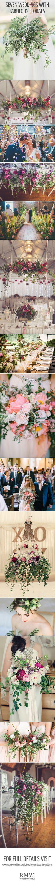 Fabulous Floral Weddings | Wedding Flowers | Flower Inspiration | Wedding Flower Ideas | Bouquets | Centrepieces | http://www.rockmywedding.co.uk/floral-decor-ideas-for-weddings/