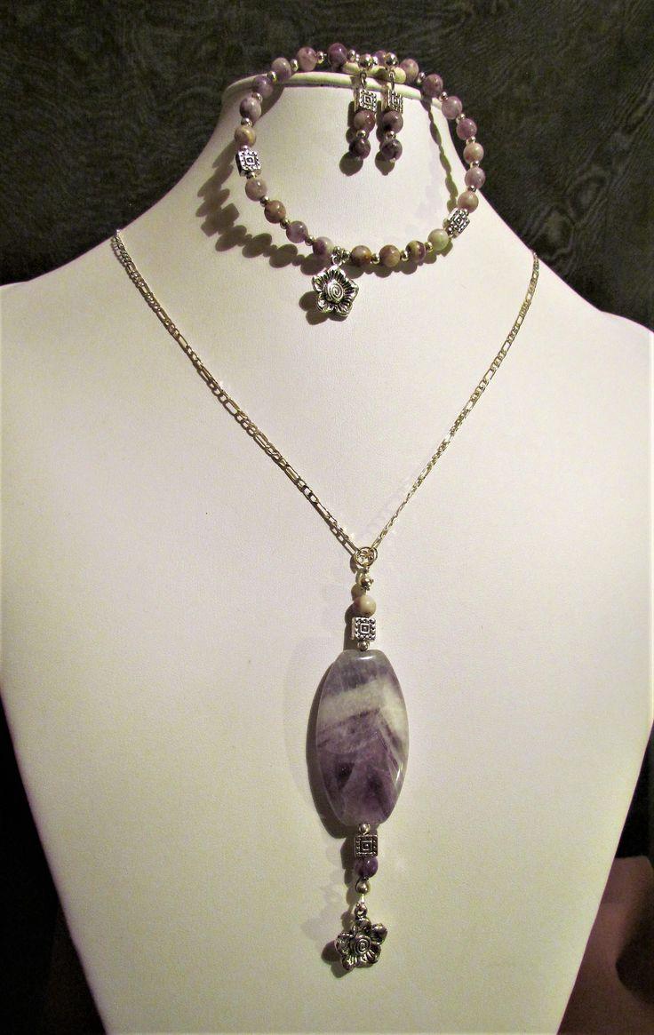 Lovely in Lavender, Amethyst Set. by MoirasJewelleryBox on Etsy