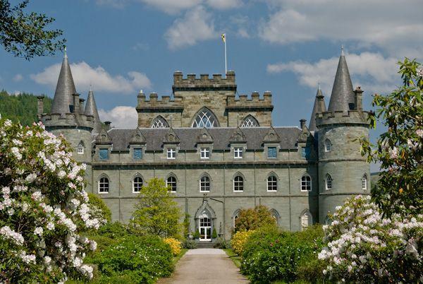 Bonnie got to visit this castle in Scotland. Inveraray Castle, where the last episode of Downton Abbey was filmed.