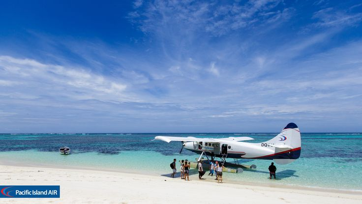 Pacific Island Air DQ-PIA at Vewa Island Resort, Fiji