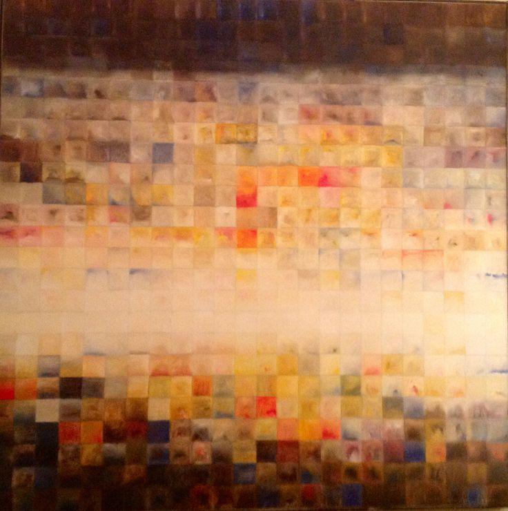 Patrick Michel.                               2011.   Untitled.        Oil on board.            48 x48