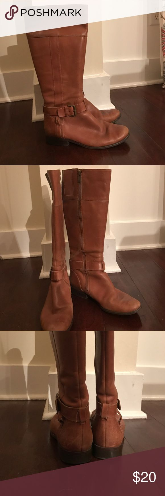 Anne Klein camel riding boots Gently worn riding boots. Zipper on inside of each boot and hit just below the knee. Anne Klein Shoes