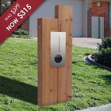 Milkcan Manhattan Sleeper Timber Letterbox with Stainless Front Panel Mailbox