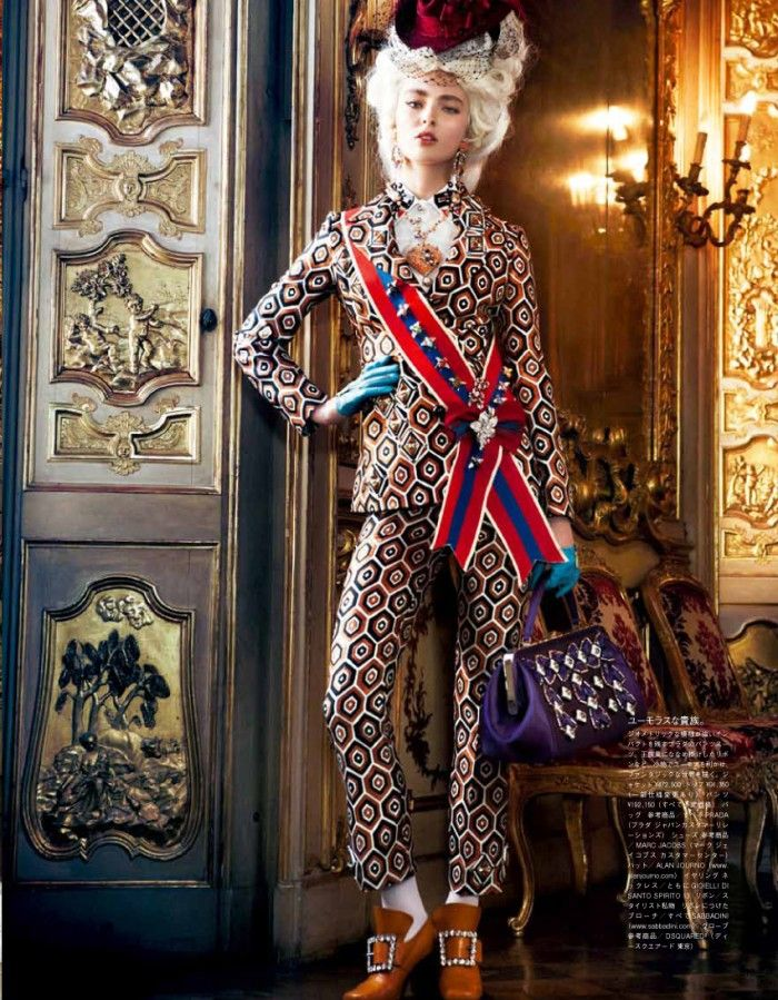 rococo editorial | Rococo approach to trendy fashion? I buy it! Specially  the Rococo