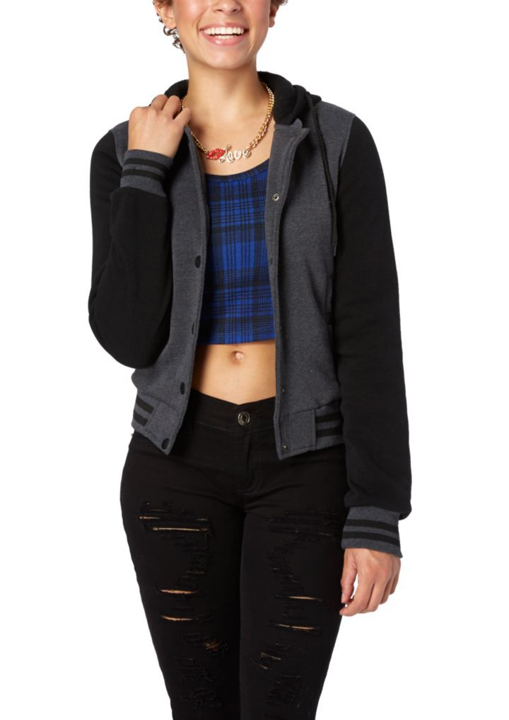 Color Block Hooded Bomber Jacket | Jackets & Outerwear | rue21