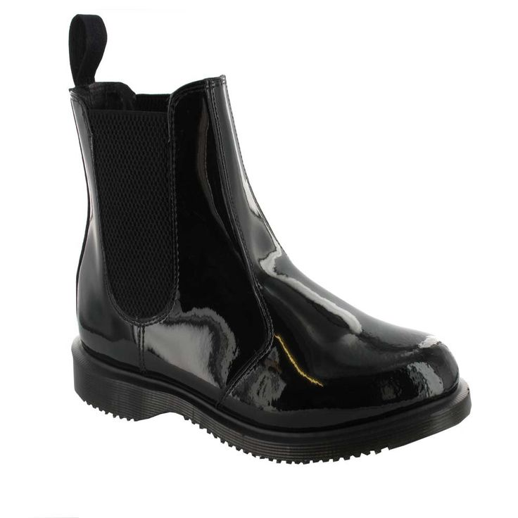 Dr Martens FAUN Ladies Classic Chelsea Boot in Black Patent
