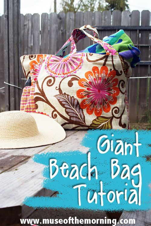 Free Bag Pattern and Tutorial - Giant Beach Bag