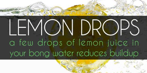 Use a few drop of lemon to keep your bong clean over time.  bee-high.com/how-to-clean-a-bong