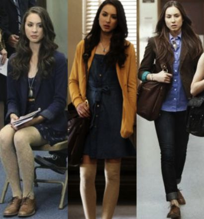 Some rocking ensembles by the Queen B of fashion! They may have over glamorized the Main Line, but they're right on the money with fashion department on this show.