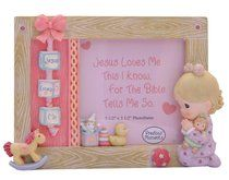 Precious Moments Photo Frame: Girl With Doll, Jesus Loves Me