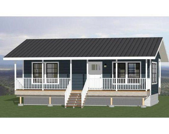 32x16 House 1 Bedroom 1 Bath 512 Sq Ft Pdf Floor Plan Instant Download Model 1 Build My Own House Mobile Home Porch Tiny Beach House