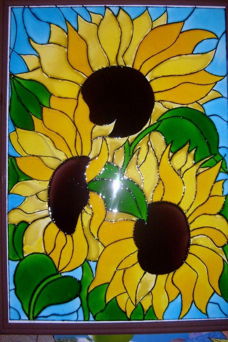Картинки из пластилина на стекле шаблоны