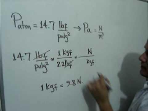 Conversión de unidades de presión: Julio Rios explica la conversión de un valor de Presión, de libras por pulgada cuadrada a Pascales.