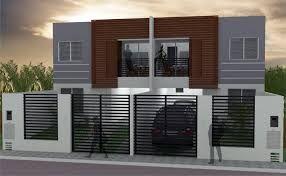 Fachadas de casas geminadas e modernas fotos