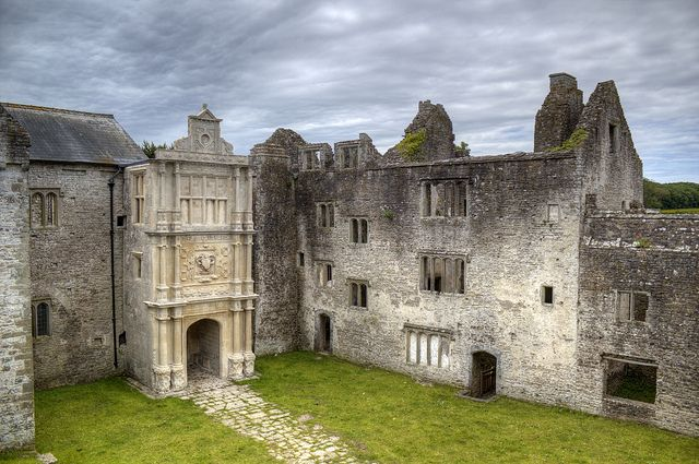 Old Beaupre Castle Porch by fillbee, via Flickr