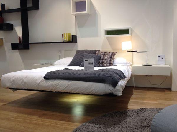 magnetic floating bed ideas | diy cool bedroom ideas | pinterest