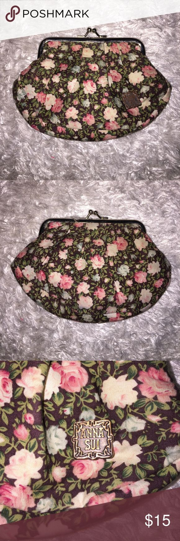"""Anna Sui Coin Purse Excellent condition, no flaws. 6"""" by 4"""".  Feel free to ask any questions! No trades sorry, & offers thru the offer button only!.... Anna Sui Bags Wallets"""