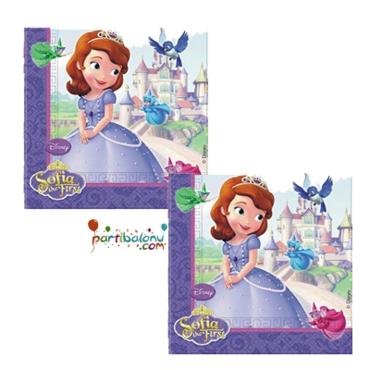 Prenses Sofia Peçete Sofia Peçete Ürün Özellikleri  Paket içerisinde 20 Adet Prenses Sofia Peçete bulunuyor. Kağıt Sofia Peçete canlı renklere sahip olup, lisanslıdır. Sofia temalı peçetelerin boyutu 33x33 cm' dir
