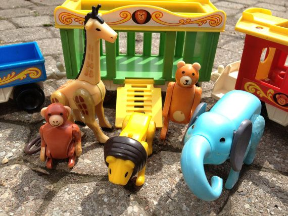 Vintage Fisher Price Circus Train No. 991 Includes ALL animals and figures 70's/80's via Etsy