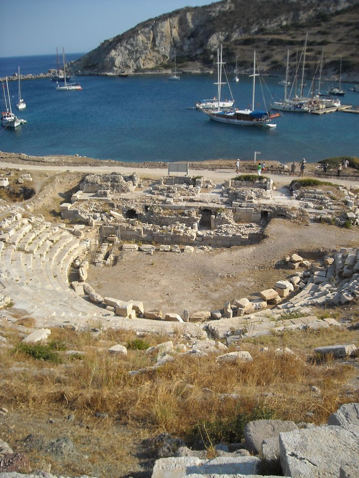Ancient theatre . Knidos, Turkey