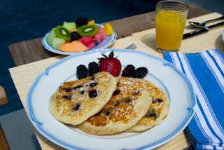 Receitas Saudáveis Para Saúde e Boa Forma: Panqueca de WHEY PROTEIN e frutas frescas