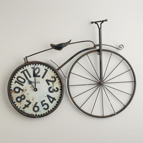 """One of my favorite discoveries at WorldMarket.com: Bicycle Wall Clock"" I'm not a big fan of the bike but something else would look call"