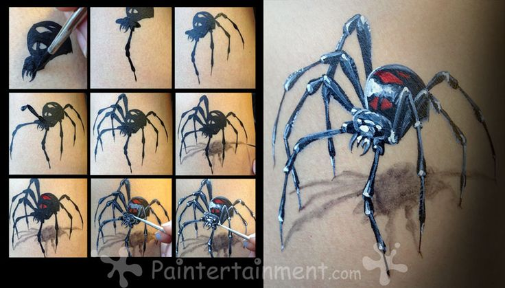 Paintertainment: Paintertainment Free How-To: Realistic Black Widow