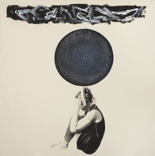 Blue Karma, 2012, Oil & charcoal on canvas, by Marc Séguin | www.marcseguin.com