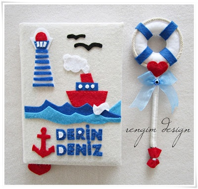 Rengim Design: Anı Defteri - Kapı Süsü - Takı Yastığı / Tema: Denizci ♥