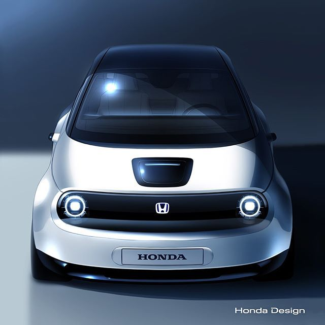 Back In 2017 Honda Showed Off One Of The Coolest Electric Car Concepts Since Well Ever Thanks To This New Sketch We Now Have A Better Honda Electric Car Geneva Motor