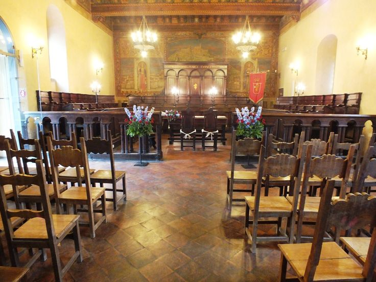 Cortona, the ancient Council Hall where civil ceremonies are performed