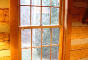 New Replacement Window In A Real Historical Log Home Renewal By Andersen