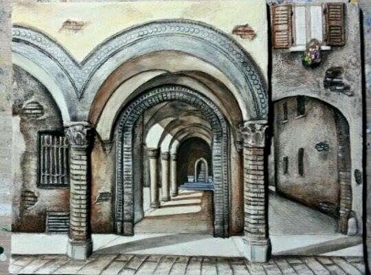 #portici di #bologna #arte #cultura #artisti