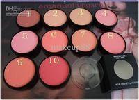 Venta al por mayor - descuento en maquillaje * dropshipping * nuevo maquillaje 10 colores Powder Blush 15 g + pincel ( 50 unids/lote )
