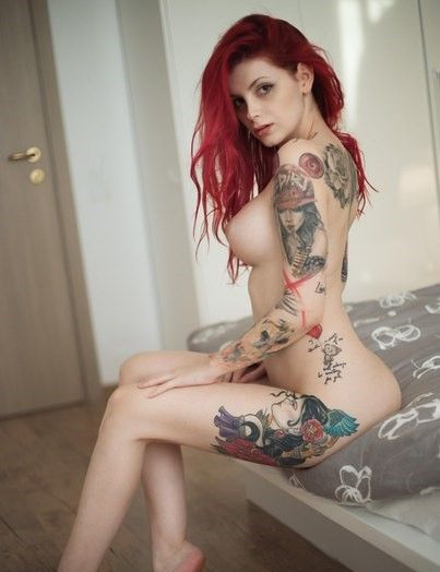Not present Nude girls red heads with tats are not