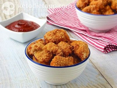 Paleo chicken nuggets (low-carb, paleo). One of the many delicious ...