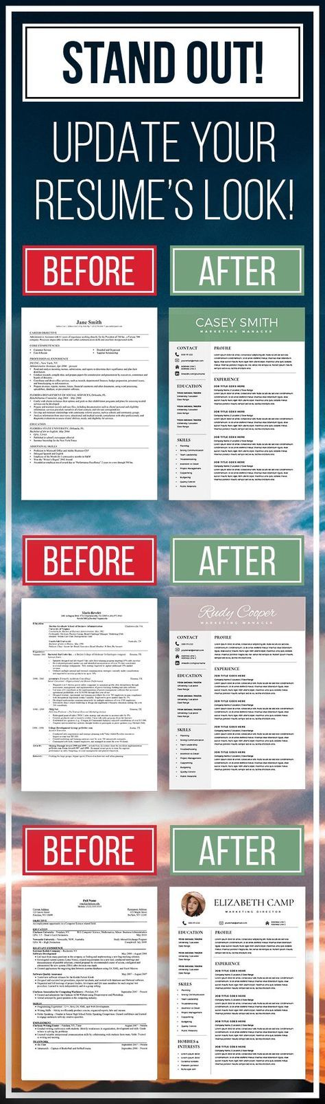 STAND OUT! Updates your resume's look! Modern Resumes