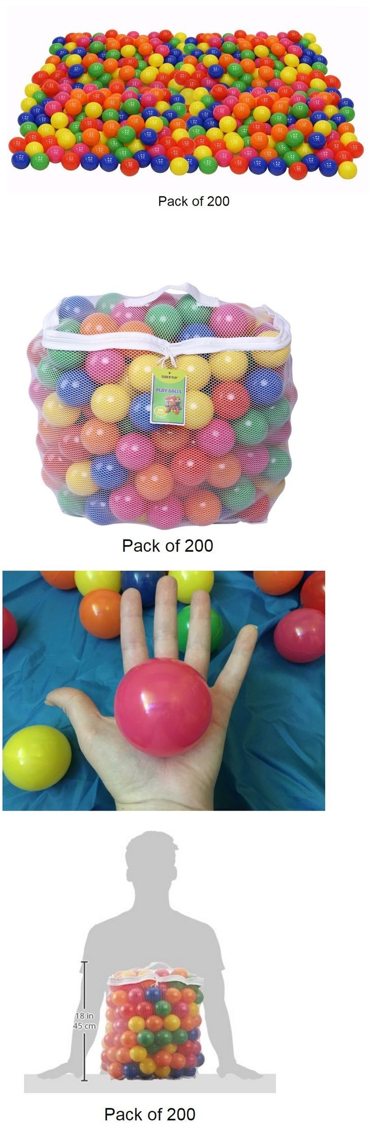 Pit Balls 145996: 200 Pcs Pit Ball Crush Proof Plastic Swimming Pool Toy Kid Party, Phthalate Free -> BUY IT NOW ONLY: $42.49 on eBay!