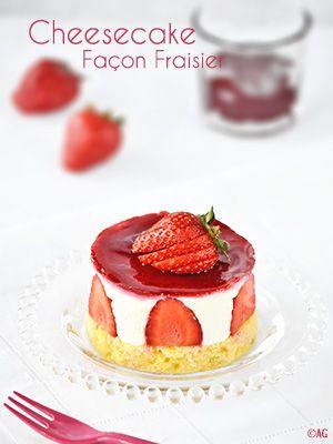 Alter Gusto | Mini cheesecake façon fraisier (sans cuisson) -