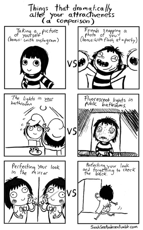 Doodle Time SarahSeeAndersen.... Words cannot express how much I can relate to this